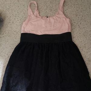 Elle black/pink skater dress, L.